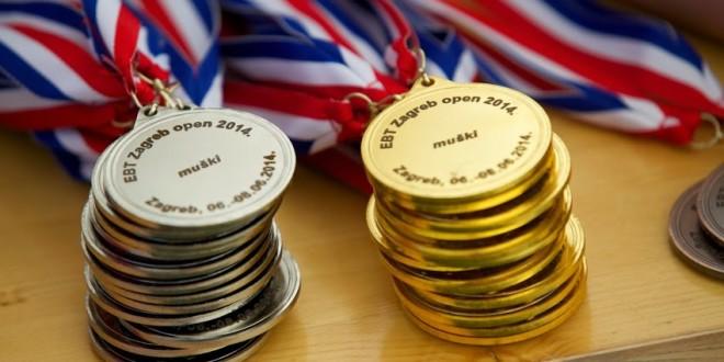 Zagreb Open 2014 medalje